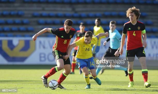 20170323 Beveren Belgium / Uefa U19 Euro 2017 Qualifying Round Sweden vs Belgium / Louis VERSTRAETE Dusan JAJIC / Football Under 19 Red Devils / Rode...