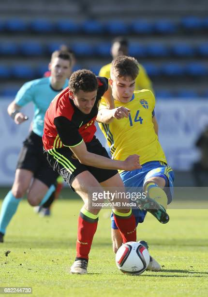 20170323 Beveren Belgium / Uefa U19 Euro 2017 Qualifying Round Sweden vs Belgium / 'nLouis VERSTRAETE Dusan JAJIC'nFootball Under 19 Red Devils /...