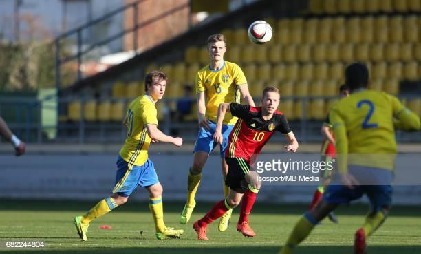 20170323 Beveren Belgium / Uefa U19 Euro 2017 Qualifying Round Sweden vs Belgium / Carl JOHANSSON Svante INGELSSON Dante RIGO / Football Under 19 Red...