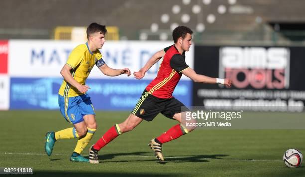 20170323 Beveren Belgium / Uefa U19 Euro 2017 Qualifying Round Sweden vs Belgium / Dusan JAJIC Louis VERSTRAETE / Football Under 19 Red Devils / Rode...