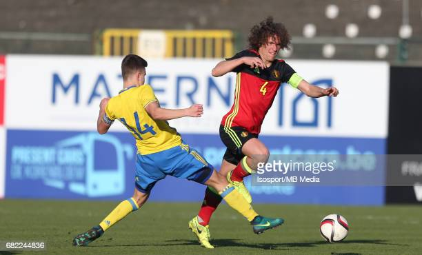 20170323 Beveren Belgium / Uefa U19 Euro 2017 Qualifying Round Sweden vs Belgium / Dusan JAJIC Wout FAES / Football Under 19 Red Devils / Rode...