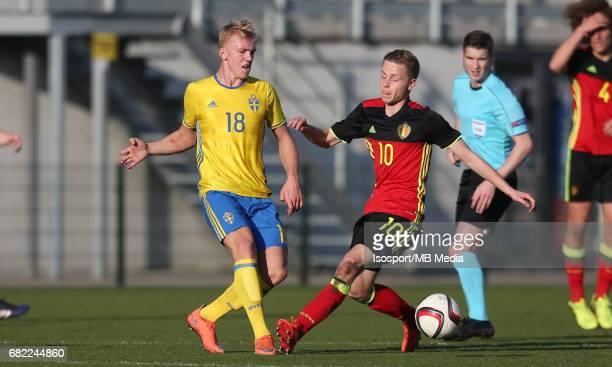 20170323 Beveren Belgium / Uefa U19 Euro 2017 Qualifying Round Sweden vs Belgium / Isac LIDBERG Dante RIGO / Football Under 19 Red Devils / Rode...