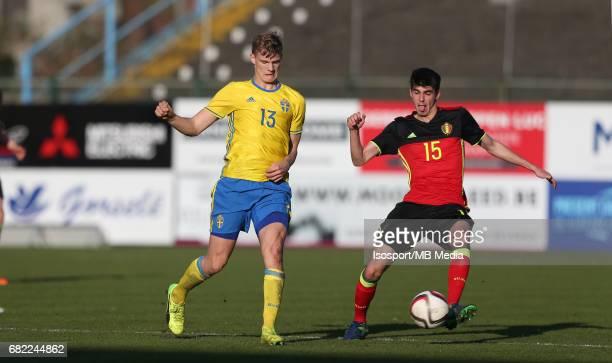 20170323 Beveren Belgium / Uefa U19 Euro 2017 Qualifying Round Sweden vs Belgium / Svante INGELSSON Thibault DE SMET / Football Under 19 Red Devils /...
