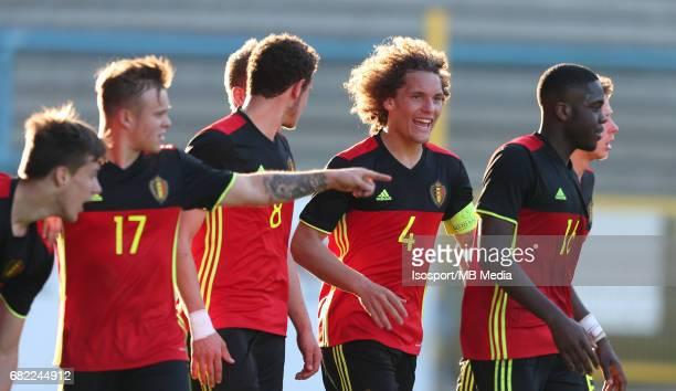 20170323 Beveren Belgium / Uefa U19 Euro 2017 Qualifying Round Sweden vs Belgium / Wout FAES Vreugde Joie Celebration / Football Under 19 Red Devils...