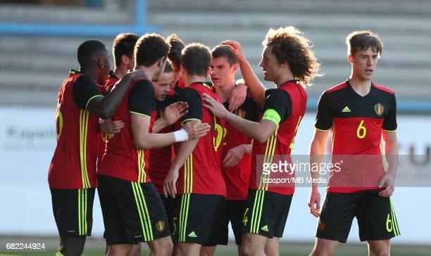 20170323 Beveren Belgium / Uefa U19 Euro 2017 Qualifying Round Sweden vs Belgium / Vreugde Joie Celebration / Football Under 19 Red Devils / Rode...