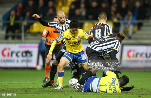 20171125 Beveren Belgium / WaaslandBeveren v Sporting Charleroi / 'nDorian DESSOLEIL Ryota MORIOKA 'nFootball Jupiler Pro League 2017 2018 Matchday...
