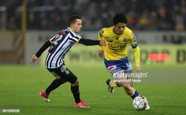 20171125 Beveren Belgium / WaaslandBeveren v Sporting Charleroi / 'nGaetan HENDRICKX Ryota MORIOKA'nFootball Jupiler Pro League 2017 2018 Matchday 16...
