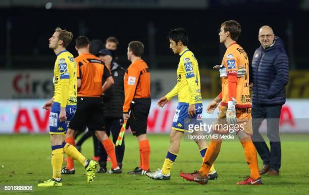 20171125 Beveren Belgium / WaaslandBeveren v Sporting Charleroi / 'nOlivier MYNY Ryota MORIOKA Davy ROEF Deception'nFootball Jupiler Pro League 2017...