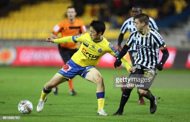 20171125 Beveren Belgium / WaaslandBeveren v Sporting Charleroi / 'nRyota MORIOKA Javier MARTOS'nFootball Jupiler Pro League 2017 2018 Matchday 16 /...