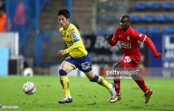 20171208 Beveren Belgium / WaaslandBeveren v Standard de Liege / 'nRyota MORIOKA PaulJose MPOKU'nFootball Jupiler Pro League 2017 2018 Matchday 18 /...