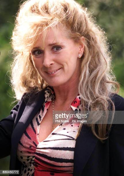 Beverley Callard smiles for the cameras on her first day of filming at a disused hospital in Cheadle Greater Manchester as she marks her return to...