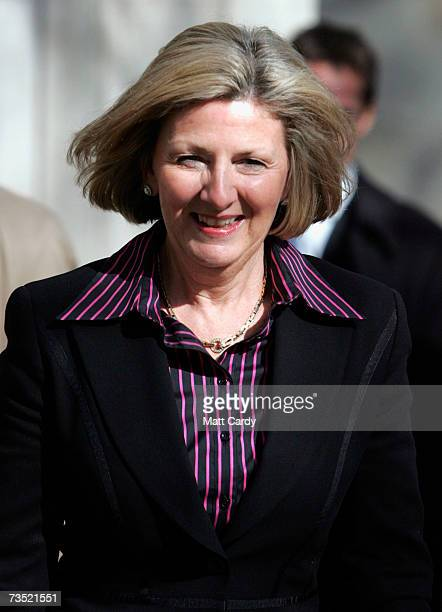 Beverley Charman leaves the Court of Appeal on March 8 2007 in London England She is making a appeal settlement against her husband John Charman that...
