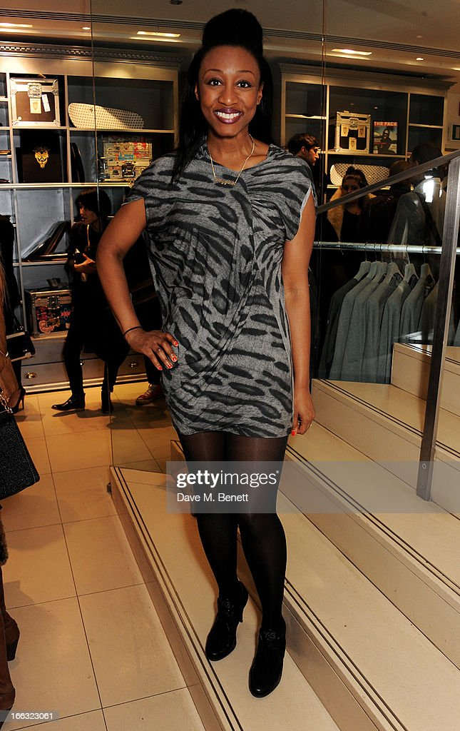 Beverley Knigh attends as Jazzie B launches the Soul II Soul 'Classics' Collection at Harvey Nichols on April 11, 2013 in London, England.