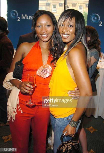 Beverley Knight and guest during NordoffRobbins O2 Silver Clef Awards 2004 at Intercontinential Mayfair in London Great Britain