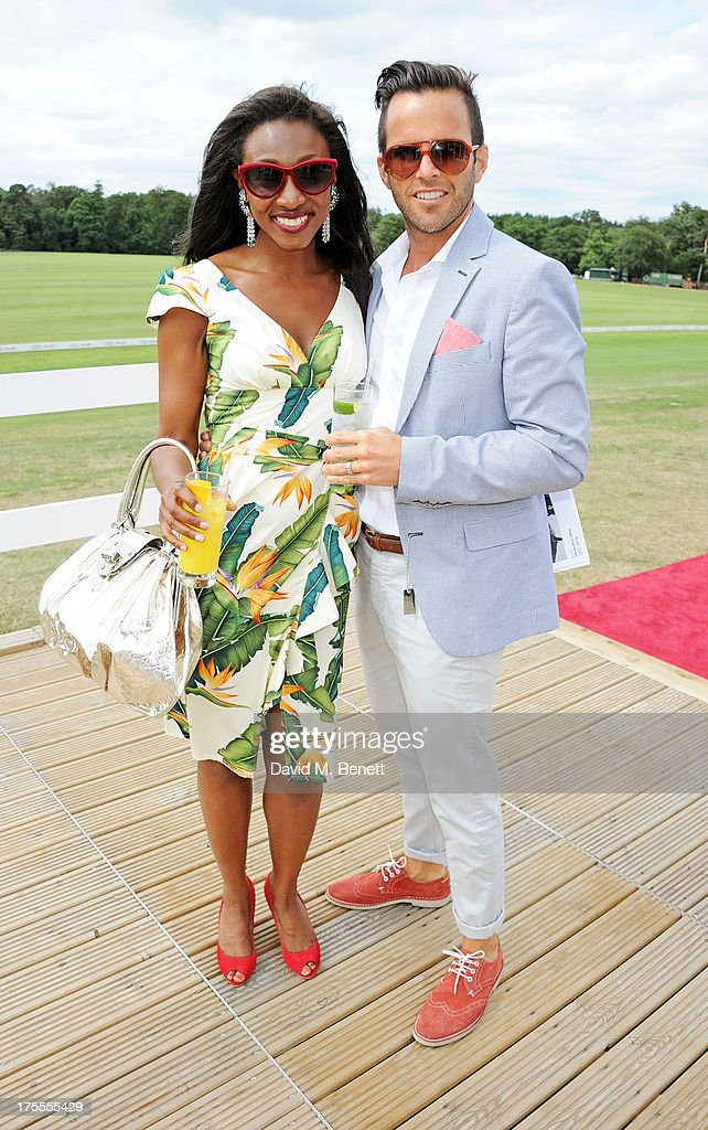 <a gi-track='captionPersonalityLinkClicked' href=/galleries/search?phrase=Beverley+Knight&family=editorial&specificpeople=204569 ng-click='$event.stopPropagation()'>Beverley Knight</a> (L) and James O'Keefe attend day 2 of the Audi Polo Challenge at Coworth Park Polo Club on August 4, 2013 in Ascot, England.