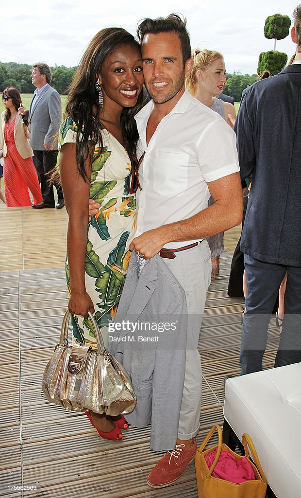 Beverley Knight (L) and James O'Keefe attend day 2 of the Audi Polo Challenge at Coworth Park Polo Club on August 4, 2013 in Ascot, England.