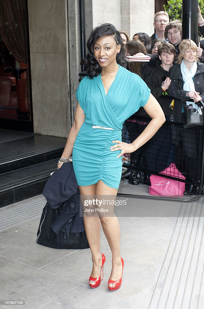 Beverley Knight Arrives At The Ivor Novello Awards Arrivals At Grosvenor House Hotel In London.