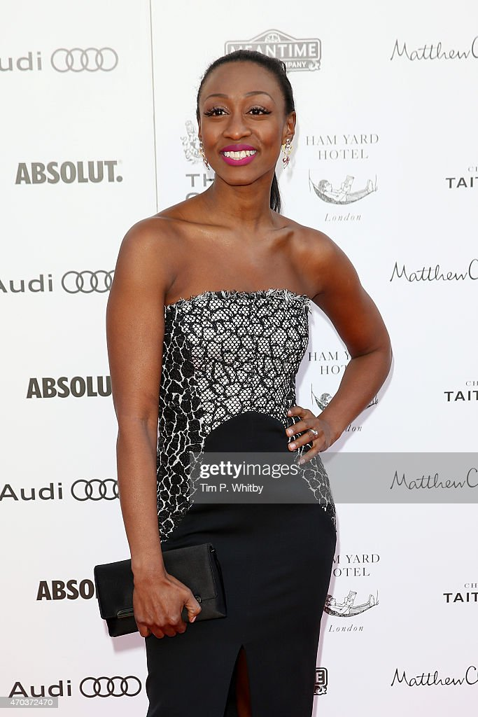 <a gi-track='captionPersonalityLinkClicked' href=/galleries/search?phrase=Beverley+Knight&family=editorial&specificpeople=204569 ng-click='$event.stopPropagation()'>Beverley Knight</a>, arrives at The Old Vic Theatre for a gala celebration in honour of Kevin Spacey as the artistic director's tenure comes to an end on April 19, 2015 in London, England.