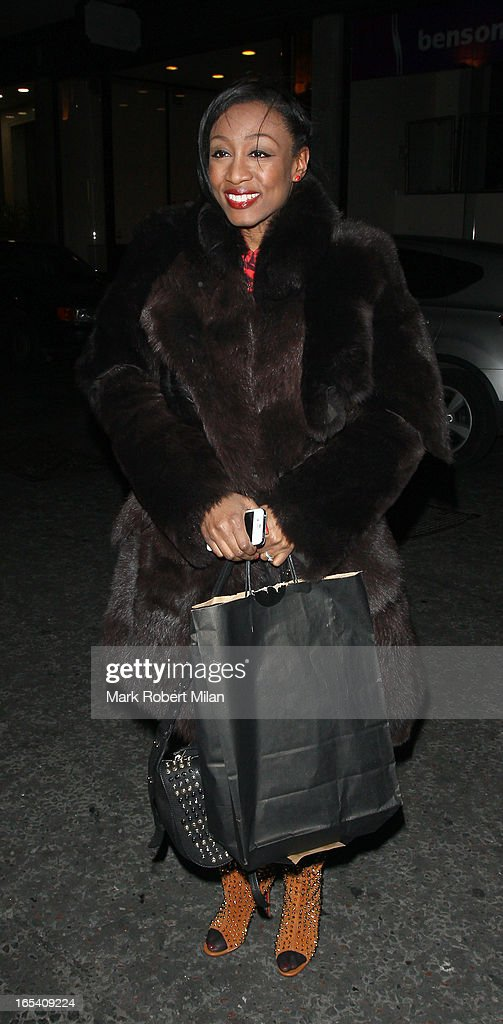 <a gi-track='captionPersonalityLinkClicked' href=/galleries/search?phrase=Beverley+Knight&family=editorial&specificpeople=204569 ng-click='$event.stopPropagation()'>Beverley Knight</a> at the Kensington roof gardens on April 3, 2013 in London, England.