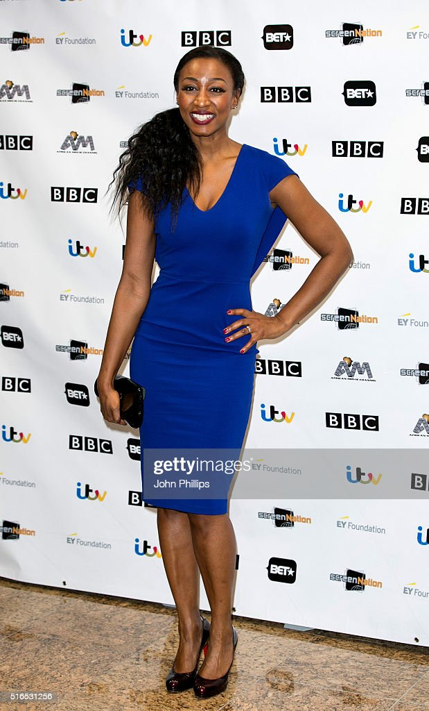 <a gi-track='captionPersonalityLinkClicked' href=/galleries/search?phrase=Beverley+Knight&family=editorial&specificpeople=204569 ng-click='$event.stopPropagation()'>Beverley Knight</a> attends the annual Screen Nation Film & Television Awards Hilton London Metropole on March 19, 2016 in London, England.