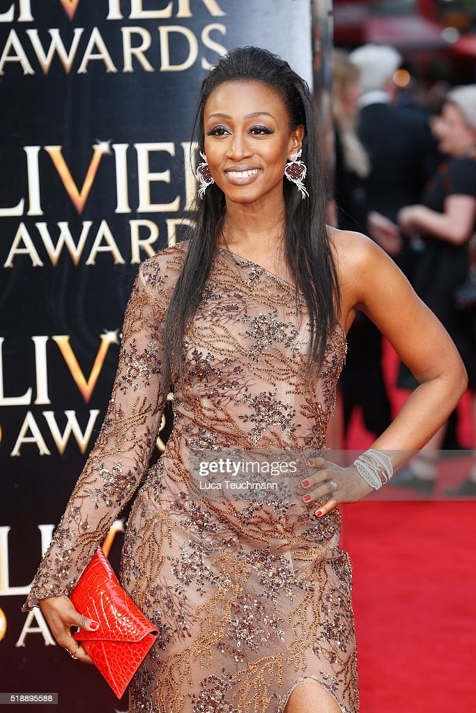 <a gi-track='captionPersonalityLinkClicked' href=/galleries/search?phrase=Beverley+Knight&family=editorial&specificpeople=204569 ng-click='$event.stopPropagation()'>Beverley Knight</a> attends The Olivier Awards with Mastercard at The Royal Opera House on April 3, 2016 in London, England.
