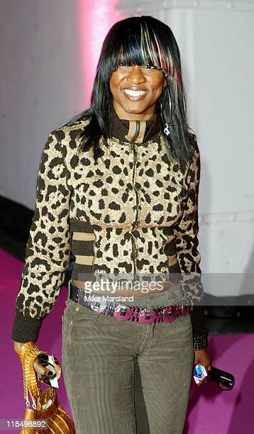 Beverley Knight during 2003 London Fashion Week Spring 2004 Julien MacDonald Arrivals at Saatchi Gallery in London United Kingdom
