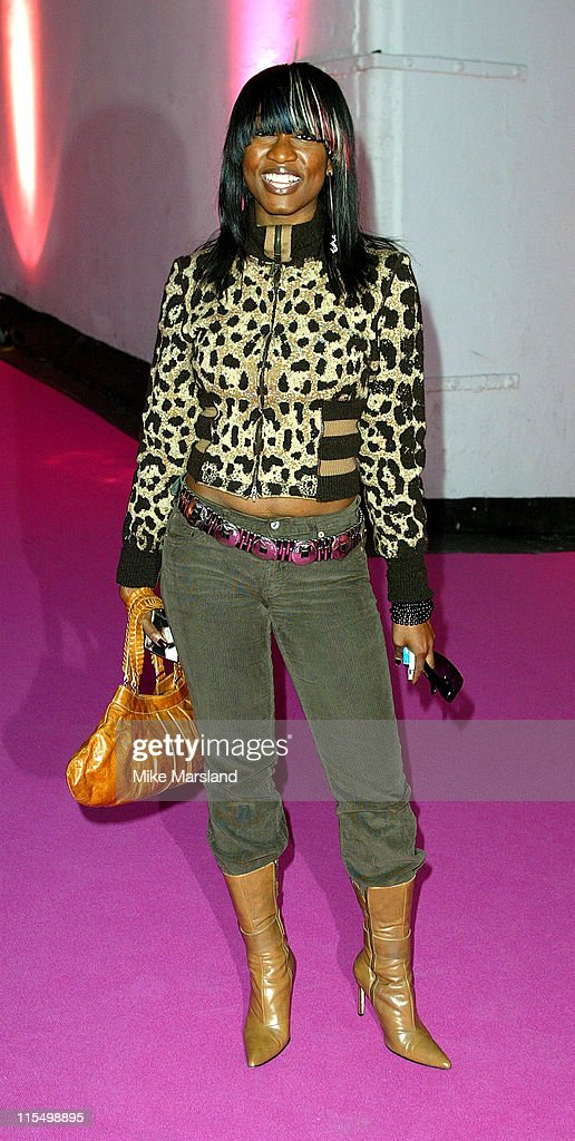 <a gi-track='captionPersonalityLinkClicked' href=/galleries/search?phrase=Beverley+Knight&family=editorial&specificpeople=204569 ng-click='$event.stopPropagation()'>Beverley Knight</a> during 2003 London Fashion Week Spring 2004 - Julien MacDonald - Arrivals at Saatchi Gallery in London, United Kingdom.