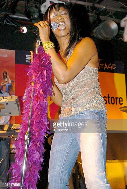 Beverley Knight during Beverley Knight in Store Performance to Promote New Single 'Come as You Are' at Virgin Megastore in London Great Britain