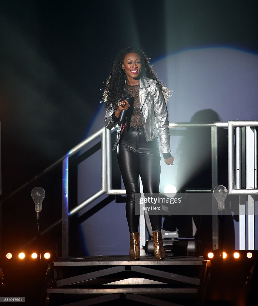 <a gi-track='captionPersonalityLinkClicked' href=/galleries/search?phrase=Beverley+Knight&family=editorial&specificpeople=204569 ng-click='$event.stopPropagation()'>Beverley Knight</a> performs at Bournemouth Pavilion on May 24, 2016 in Bournemouth, England.