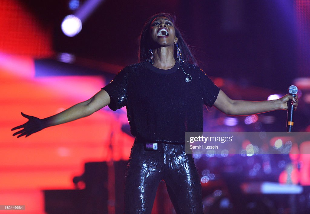 Beverley Knight performs live on stage at the Unity concert in memory of Stephen Lawrence at O2 Arena on September 29, 2013 in London, England.