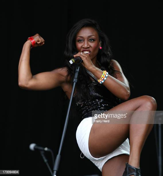 Beverley Knight performs on stage at Magic Summer Live Festival 2013 at Stoke Park on July 13 2013 in Guildford England
