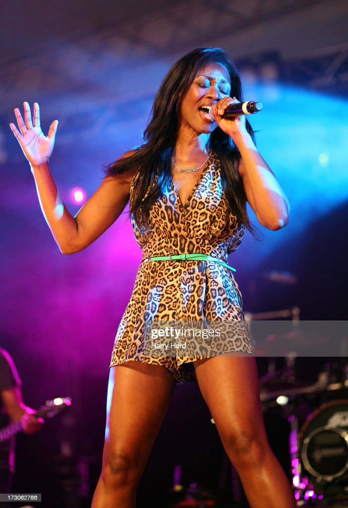 <a gi-track='captionPersonalityLinkClicked' href=/galleries/search?phrase=Beverley+Knight&family=editorial&specificpeople=204569 ng-click='$event.stopPropagation()'>Beverley Knight</a> performs on stage on Day 1 of the Cornbury Music Festival 2013 at Great Tew Estate on July 5, 2013 in Oxford, England.