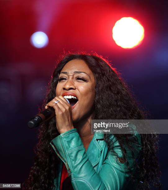 Beverley Knight performs with Staxs at Cornbury Festival at Great Tew Estate on July 10 2016 in Oxford England