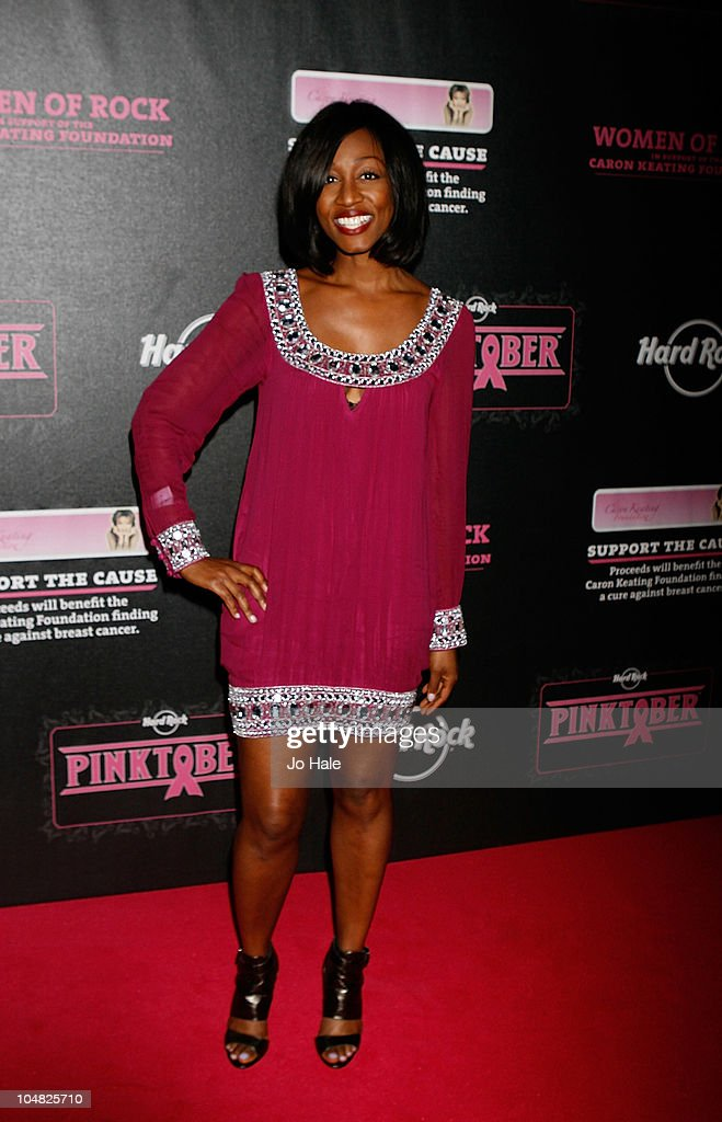 Beverley Knight poses backstage at Pinktober at the Royal Albert Hall on October 5 2010 in London England