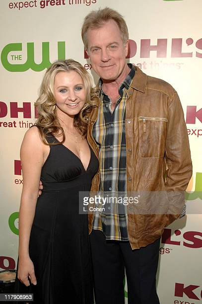 Beverley Mitchell and Stephen Collins during The CW Launch Party Green Carpet at WB Main Lot in Burbank California United States