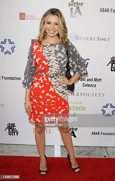 Beverley Mitchell arrives at A Better LA's 1st Annual 'In The Art of The City' flagship fundraiser held at Vibiana on May 3 2012 in Los Angeles...