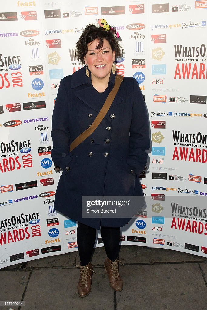 Beverley Rudd attends the Whatsonstage.com Theare Awards nominations launch at Cafe de Paris on December 7, 2012 in London, England.