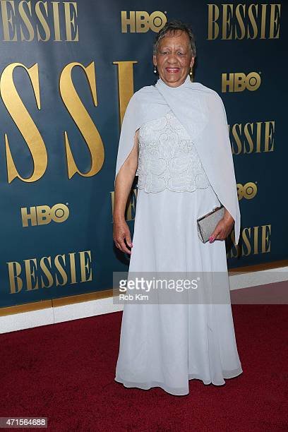 Beverly Ann Clarke granddaughter of Bessie Smith attends the 'Bessie' New York screening at The Museum of Modern Art on April 29 2015 in New York City