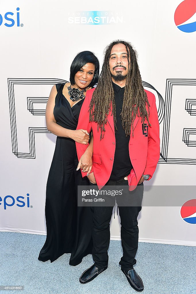 Beverly Bond and Bazaar Royale attend the 'PRE' BET Awards Dinner at Milk Studios on June 28, 2014 in Hollywood, California.