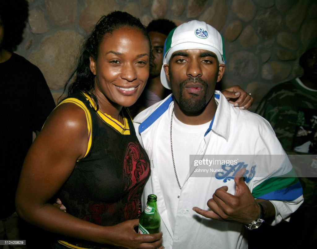 DJ Beverly Bond and DJ Clue during Andrea Lieberman's Birthday Party June 9 2004 at Quo in New York City New York United States