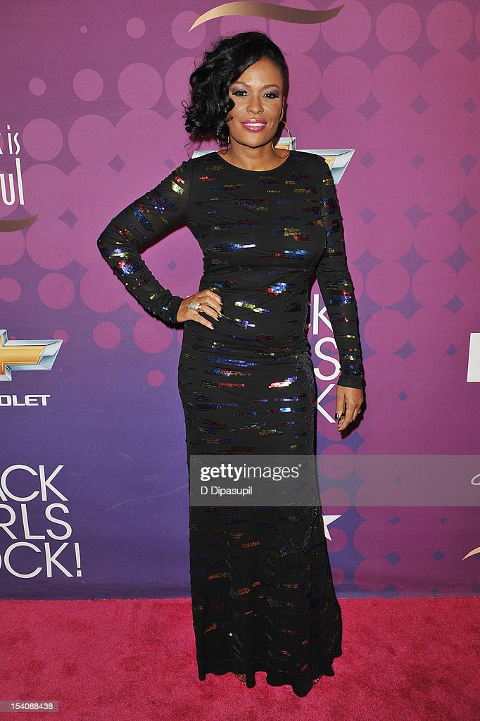 Beverly Bond attends BET's Black Girls Rock 2012 CHEVY Red Carpet at Paradise Theater on October 13, 2012 in New York City.