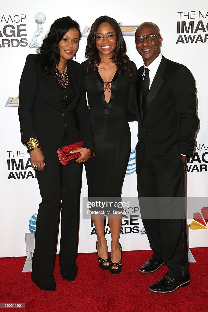 DJ Beverly Bond, Vice President of Original Programming for BET, Connie Orlando and BET President of Music Programming & Specials Stephen Hill attend the 44th NAACP Image Awards at The Shrine Auditorium on February 1, 2013 in Los Angeles, California.