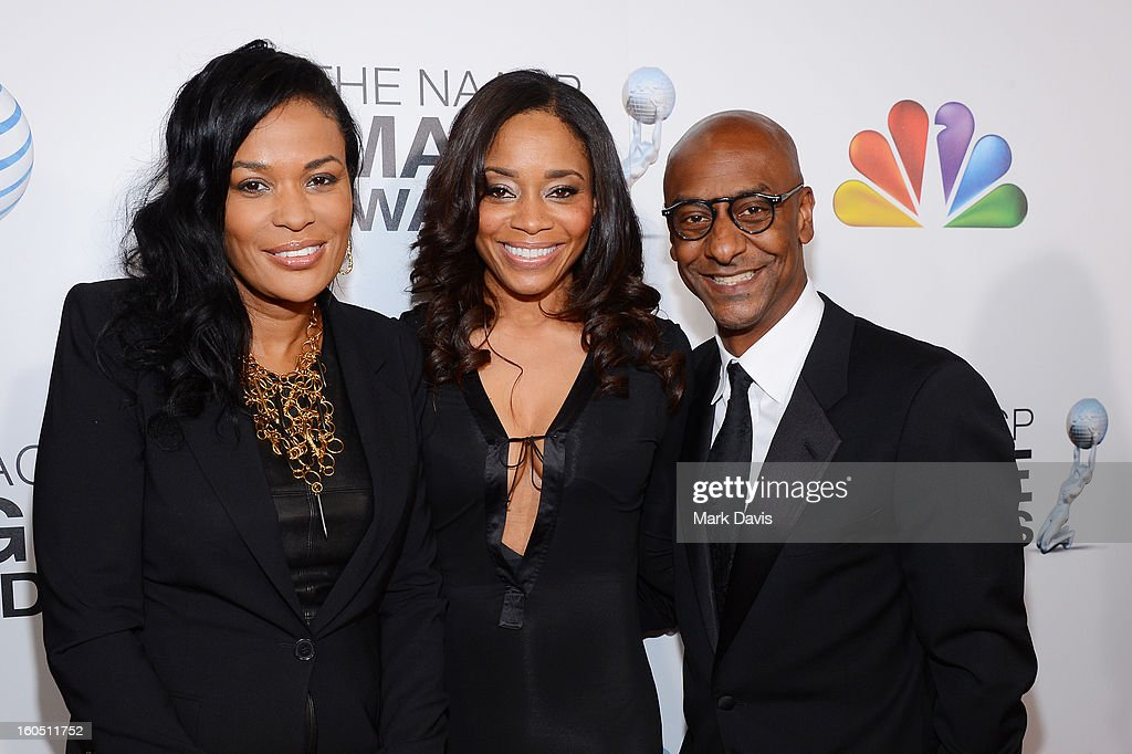 DJ Beverly Bond, Vice President of Original Programming for BET, Connie Orlando, and BET President of Music Programming & Specials Stephen Hill attend the 44th NAACP Image Awards at The Shrine Auditorium on February 1, 2013 in Los Angeles, California.