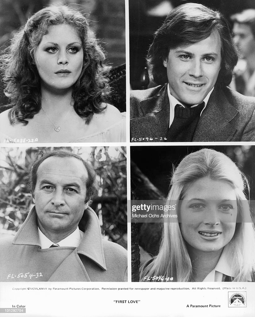 Beverly D'Angelo Robert Loggia John Heard and June Barrett in scenes from the film 'First Love' 1977
