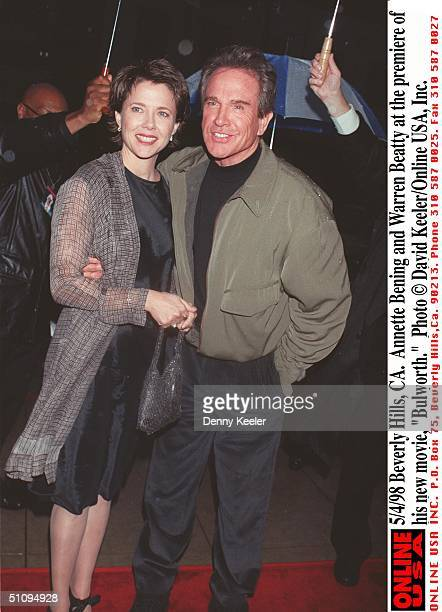 Beverly Hills Ca Annette Bening And Warren Beatty At The Premiere Of His New Movie 'Bulworth'