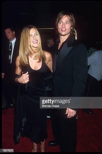 2/17/00 Beverly Hills CA Brad Pitt Jennifer Aniston attending The 2000 American Film Institute Life Achievement Award Salute to Harrison Ford Photo...