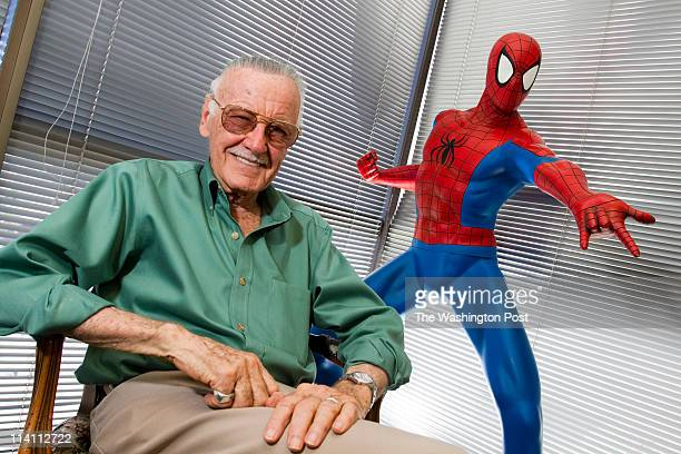 Beverly Hills CA STsuperhero Stan Lee in his office in Beverly Hills CA Mr Lee discusses why costumed crime fighters mean so much in American pop...