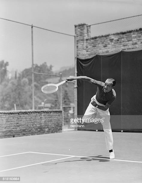 Beverly Hills California Employing the last word in agility Fred Astaire is an excellent tennis player Noted for his quick and nimble feet the RKO...