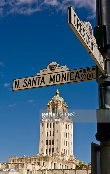 Beverly Hills City Hall stands at the corner of Santa Monica Blvd and Crescent Drive on April 14 2012 in Beverly Hills California Millions of...