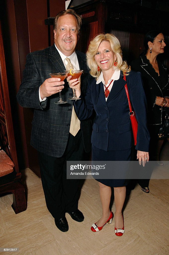 Beverly Hills Mayor Barry Brucker and his wife Sue attend the Launch Of The New Beverly Hills Drink 'THE BEVERLY' at Crustacean on September 18, 2008 in Los Angeles, California.